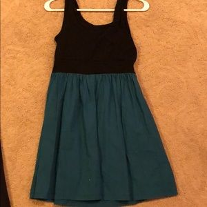 BeBop Dresses - Black and teal dress